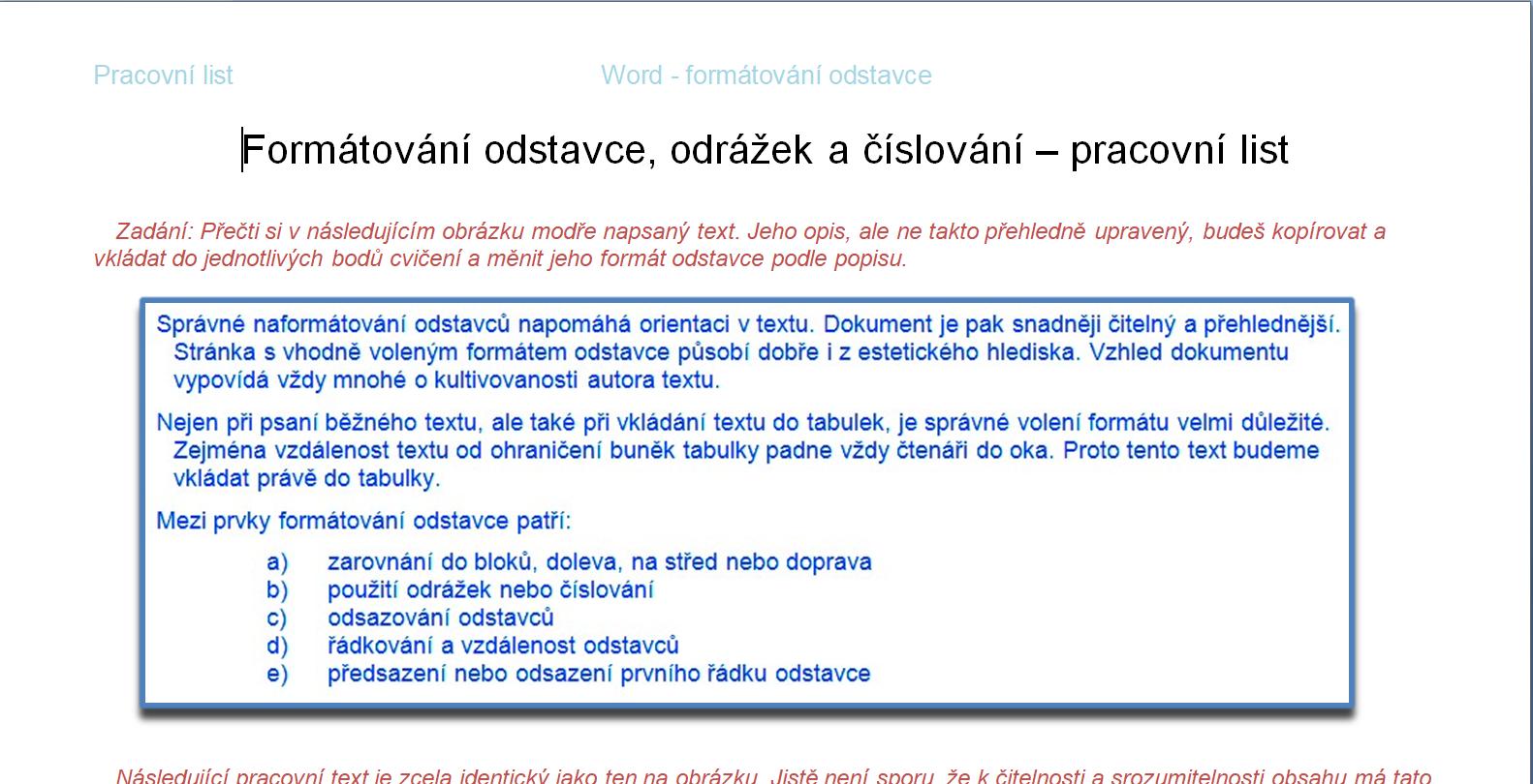 Lucie Menyhardova Informatika Opakovani Formatovani Odstavcu