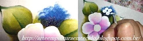 pintura em tecido como fazer flor simples