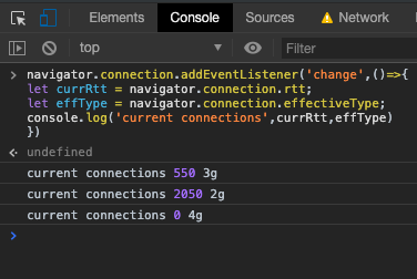 Javascript detect connection speed