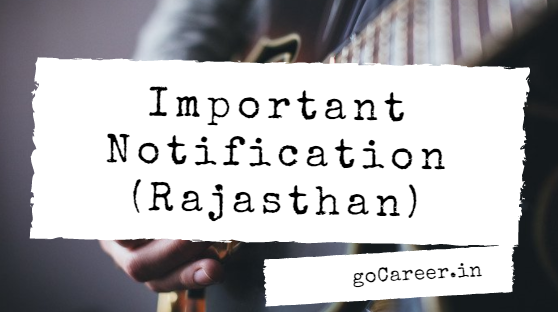 Rajasthan High Court Typing Test Official Notice (Instruction)