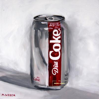 Diet Coke original oil painting by Merrill Weber