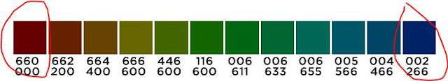Spoonflower colour chart
