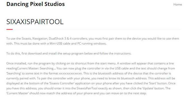 Descargar e instalar SixaxisPairTool