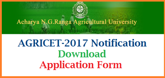 Applications are invited from Diploma holders in Agriculture and Seed Technology for admission into four years B.Sc (Ag.) Degree Programme through AGRICET on 30-07- 2017 for the academic year 2017-18. For further details and downloading the application form please visit our website: www.angrau.ac.in. ENTRANCE TEST FOR AGRICULTURE / SEED TECHNOLOGY POLYTECHNIC PASSED CANDIDATES FOR ADMISSION INTO B. Sc. (Ag.) Degree Programme for the Academic Year 2017-18 Acharya N.G. Ranga Agricultural University invites applications from Diploma holders in Agricultureand Seed Technology for admission into four years B.Sc. (Ag.) Degree programme through AGRICET 2017 forthe academic year 2017 -18. agricet-2017-notification-download-application-form-angrau