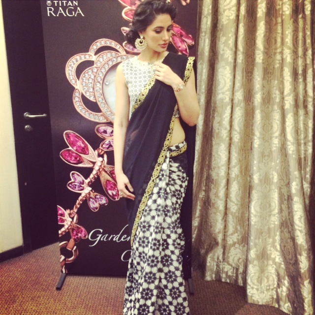 Nargis Fakhri Looking exquisite at the launch of Titan Raga's 'Garden of Eden Collection'