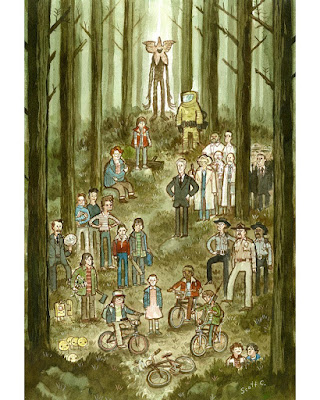 "MondoCon Exclusive Stranger Things ""Forest of Things"" Print by Scott C."
