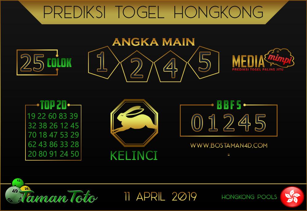 Prediksi Togel HONGKONG TAMAN TOTO 11 APRIL 2019
