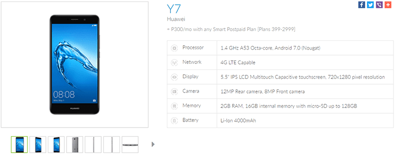 Huawei Y7 With Snapdragon 435 Now Available At Smart