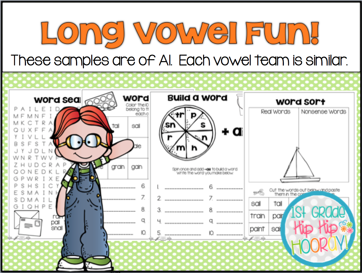 1st Grade Hip Hip Hooray Long Vowels Games And Activities