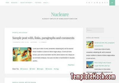 nucleare blogger template
