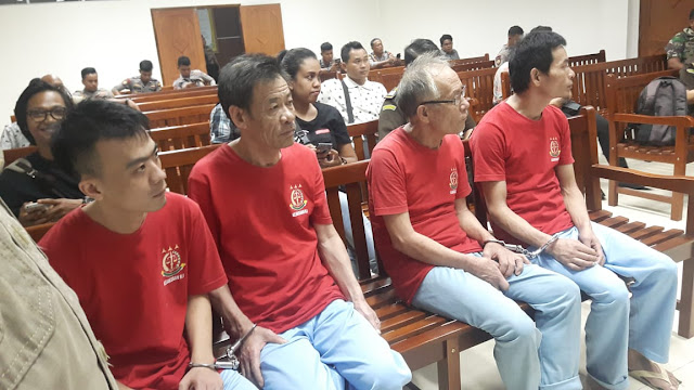 4 WN China Penyelundup 1,6 Ton Sabu ke Batam Dituntut Mati