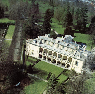 The Villa Agnelli, country home of the Agnelli family at Villar Perosa in Piedmont in 1811