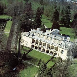 The Villa Agnelli, country home of the Agnelli family at Villar Perosa in Piedmont in 1811