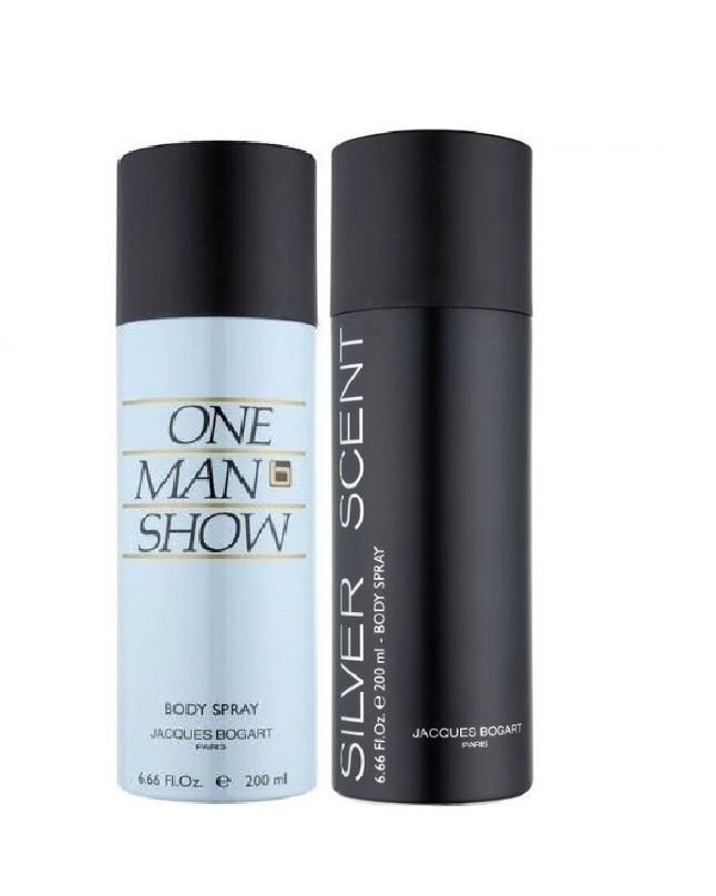 Pack Of 2 - One Man Show And Silver Scent Body Spray 200 ml