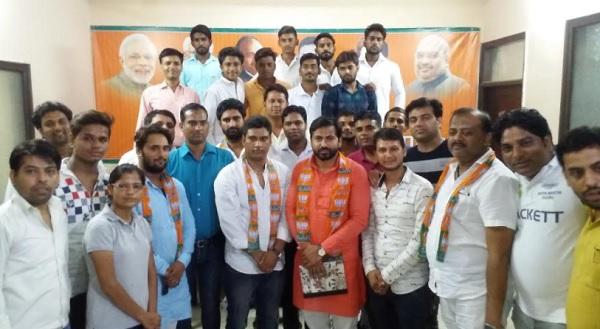 भाजपा चीफ अमित शाह के हरियाणा दौरे को लेकर युवा बीजेपी नेताओं की बैठक
