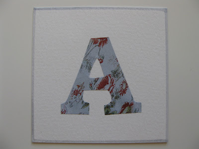 A Letter a Week 2012: Deb - second alphabet ABCD