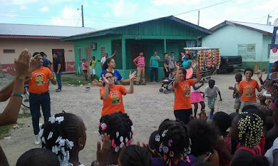 Garifuna, celebrating the children, King's Castle, Honduras