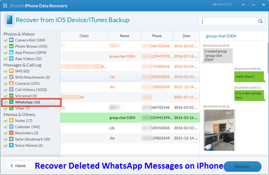 how to recover whatsapp messages on lost phone