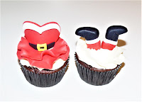 mr and mrs claus cupcake topper