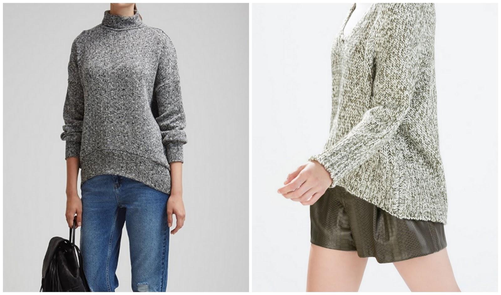 sueter Zara y H&M