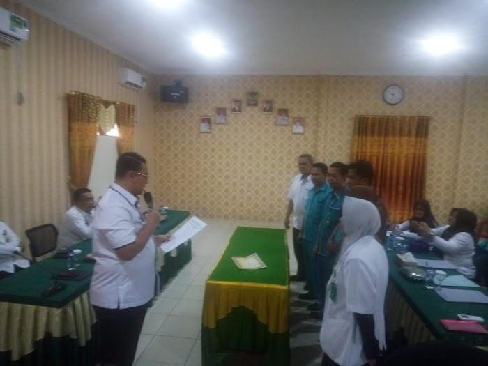 Pihak RSUD Ryacudu Kotabumi dan Karyawan, Tandatangani MoU.