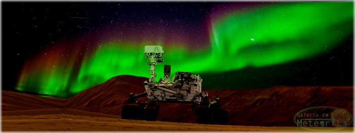 auroras em Marte