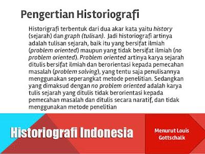 Gambar ilustrasi Historiografi Indonesia