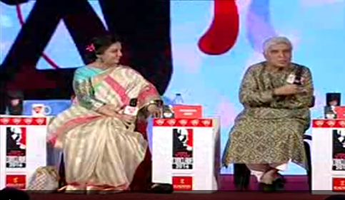 Bollywood couple Shabana Azmi says Javed Akhtar provided a delight moment at the ongoing India Today enclave.  Appearing together, the couple teased each other gently, as the amused audience watched, enjoying every bit of it.