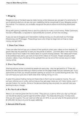 Ways to Make Money Online Download eBook