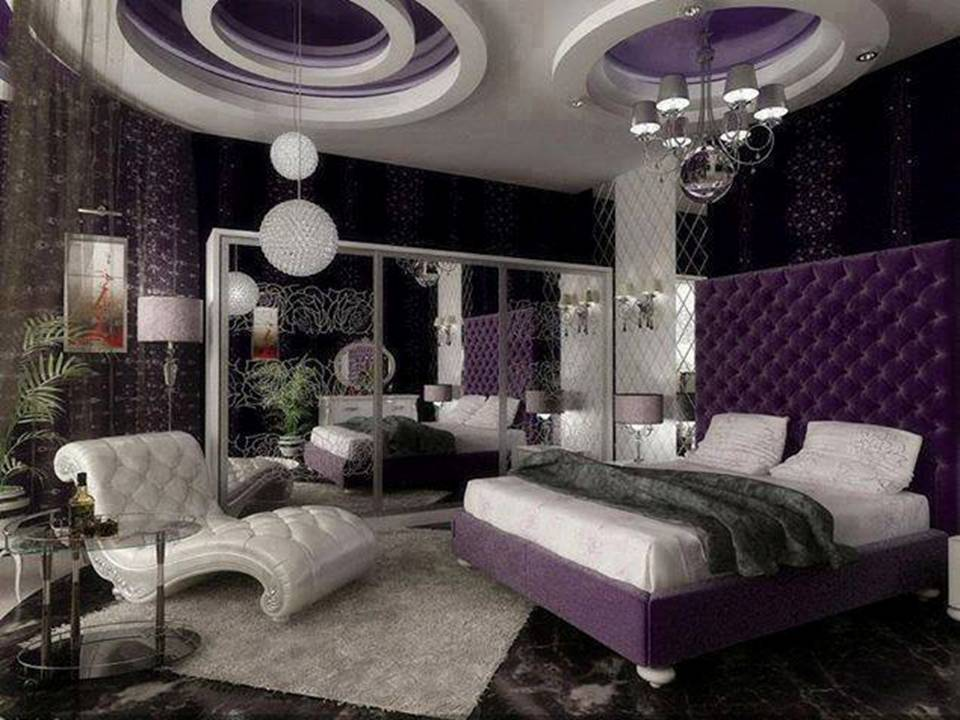 Purple Luxury Bedroom Designs