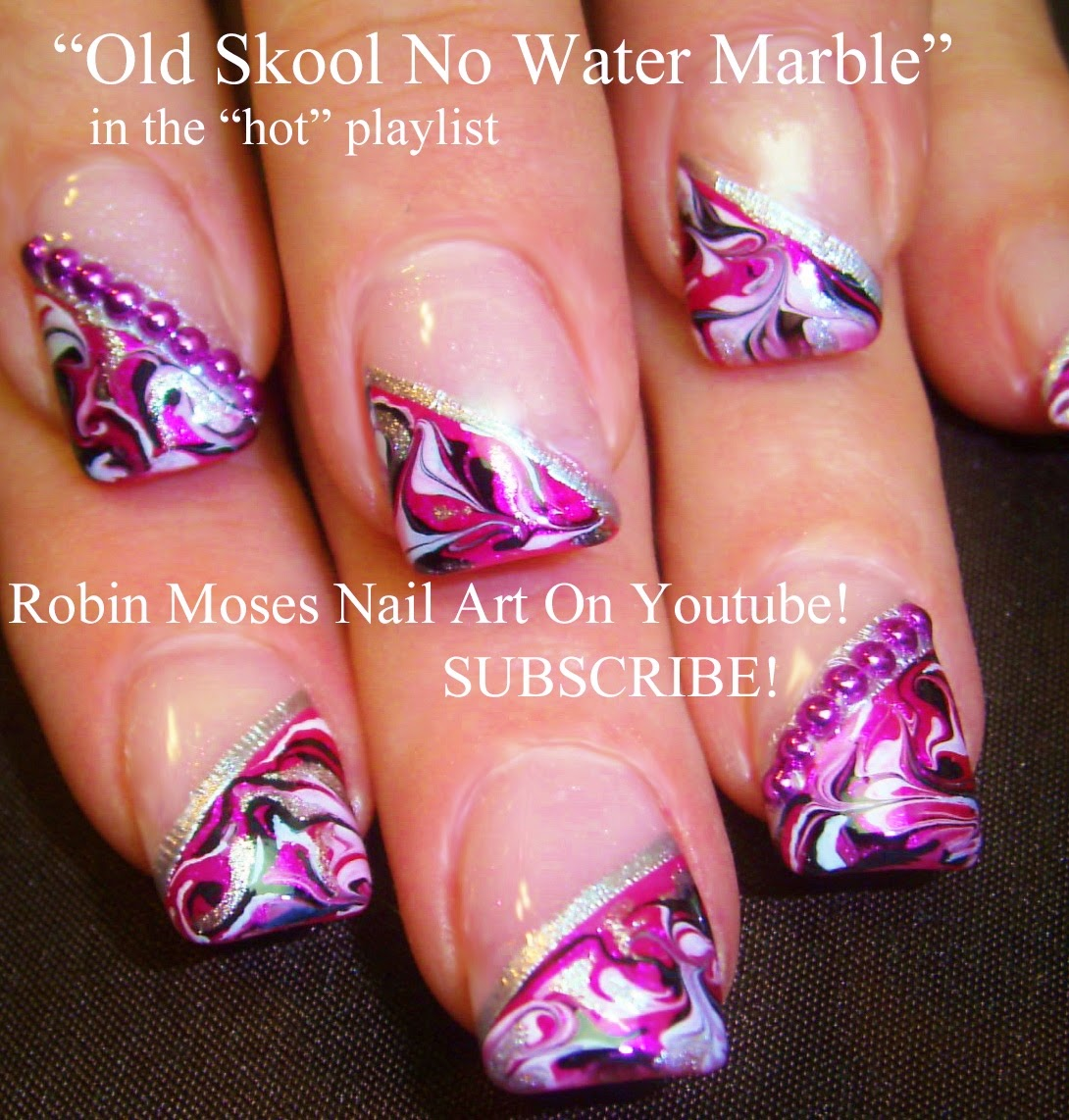 "Top 10 Water Marble Nail Art Design Tutorials Pictures: Robin Moses Nail Art: ""no Water Marble Nails"" ""marble"