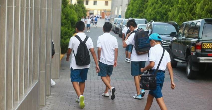PNP brinda recomendaciones para el inicio del año escolar con seguridad