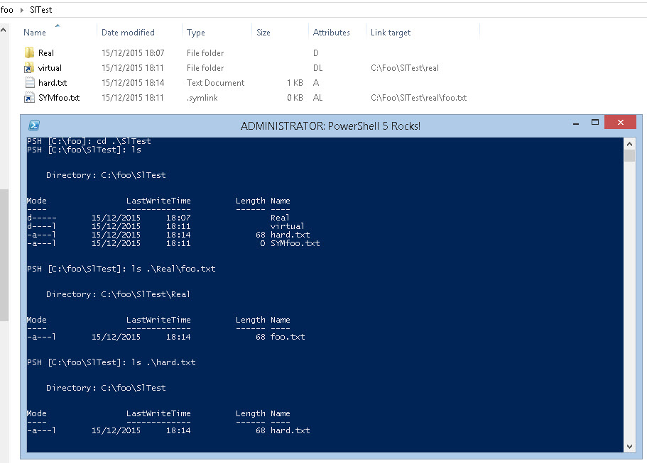 Under The Stairs Symbolic Links In Powershell V5