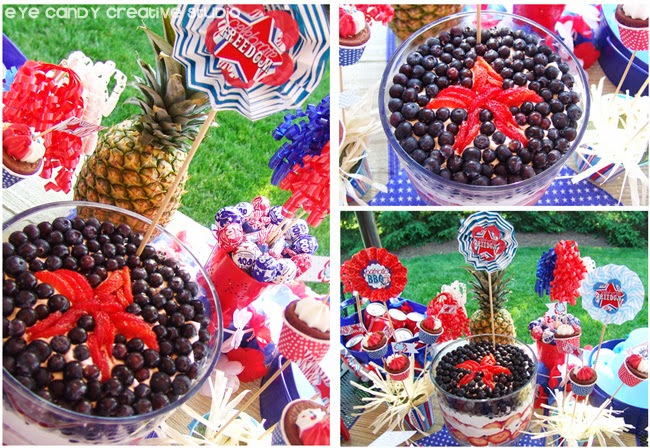 americana fruit trifle, strawberries, BBQ, cookout food ideas, memorial day