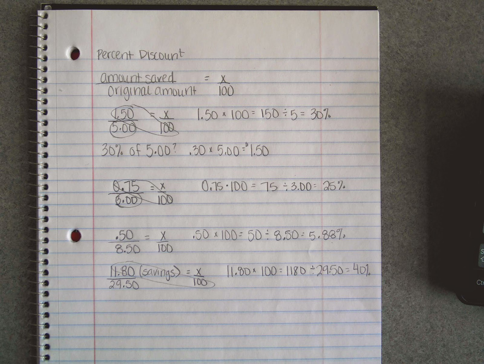 7th Grade Math December