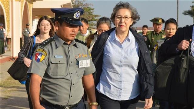 UN Special Rapporteur Yanghee Lee visits Rohingya camps in Bangladesh