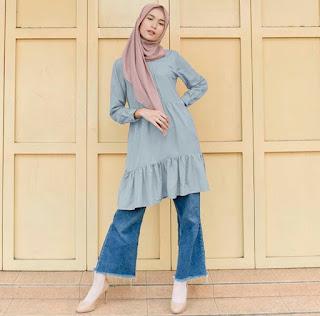 zaza blouse tunic vanilla hijab