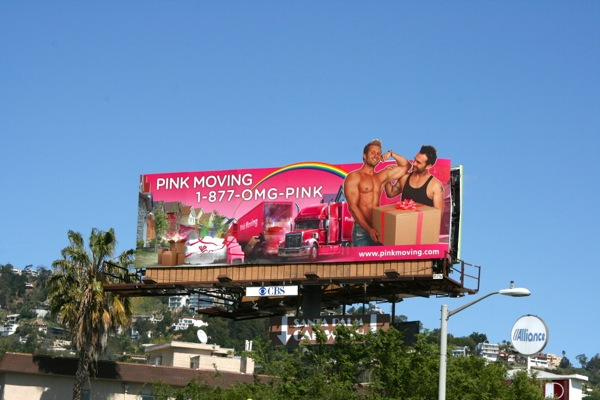Pink Moving billboard Santa Monica Blvd Mar 2010