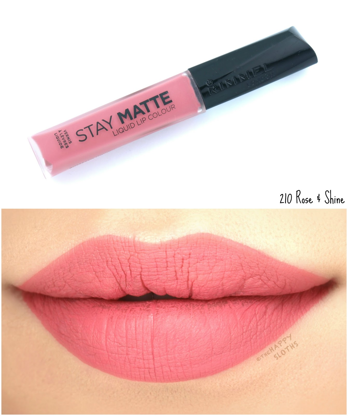 Rimmel London Stay Matte Liquid Lip Colour | 210 Rose & Shine: Review and Swatches