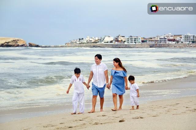 sesion fotos playa familia