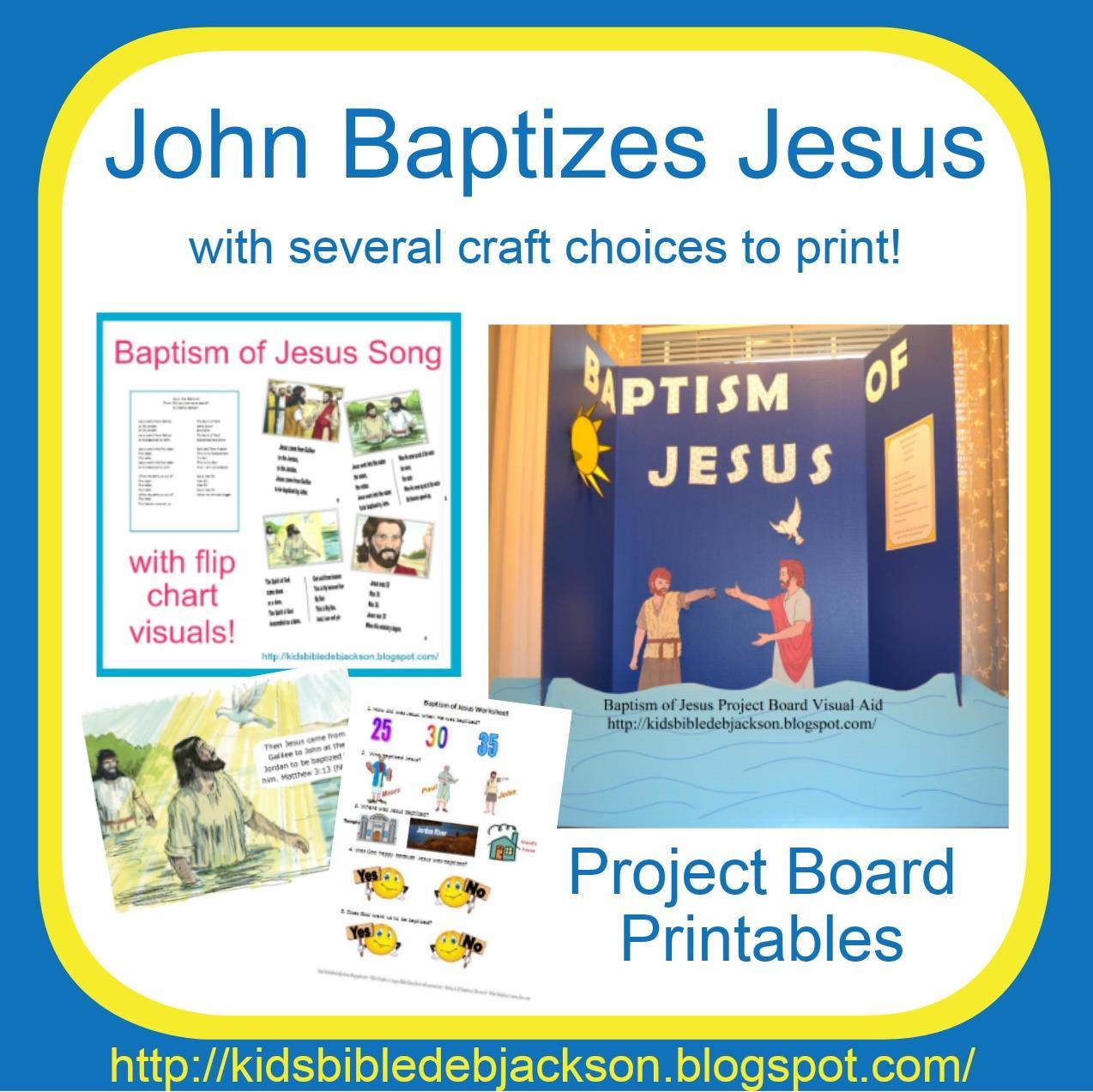 Bible Fun For Kids Jesus Baptism Amp Temptation Preschool