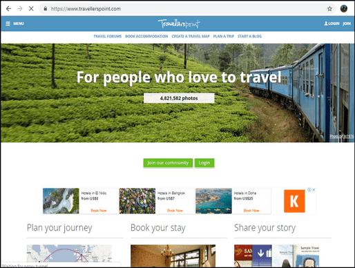 Travellerspoint homepage