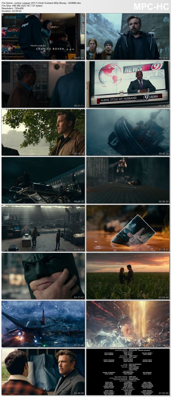 Justice League (2017) 480p BluRay Hindi Dubbed – 500MB Desirehub