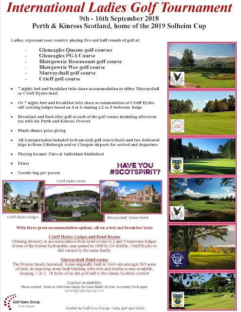 International Ladies Golf Tournament- How to get involved