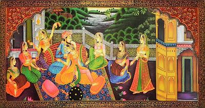 Mughal Harem Scene