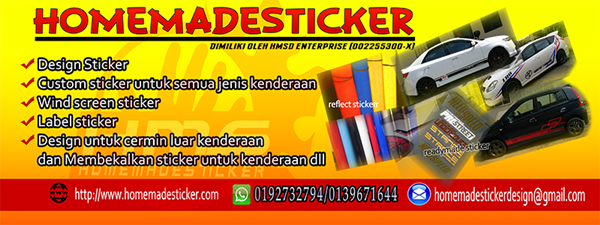 Sticker Buatan Homemade Sticker Yang Awesome!