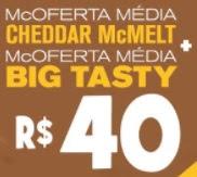 Promoção McDonald's Passa no Drive Cupom 2 Ofertas Médias 40 Reais