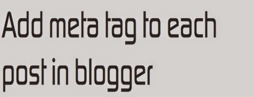 SEO Meta Tags for Blogger Post