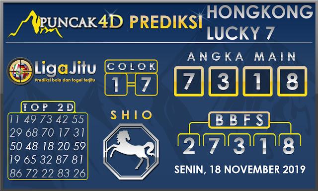 PREDIKSI TOGEL HONGKONG LUCKY7 PUNCAK4D 18 NOVEMBER 2019