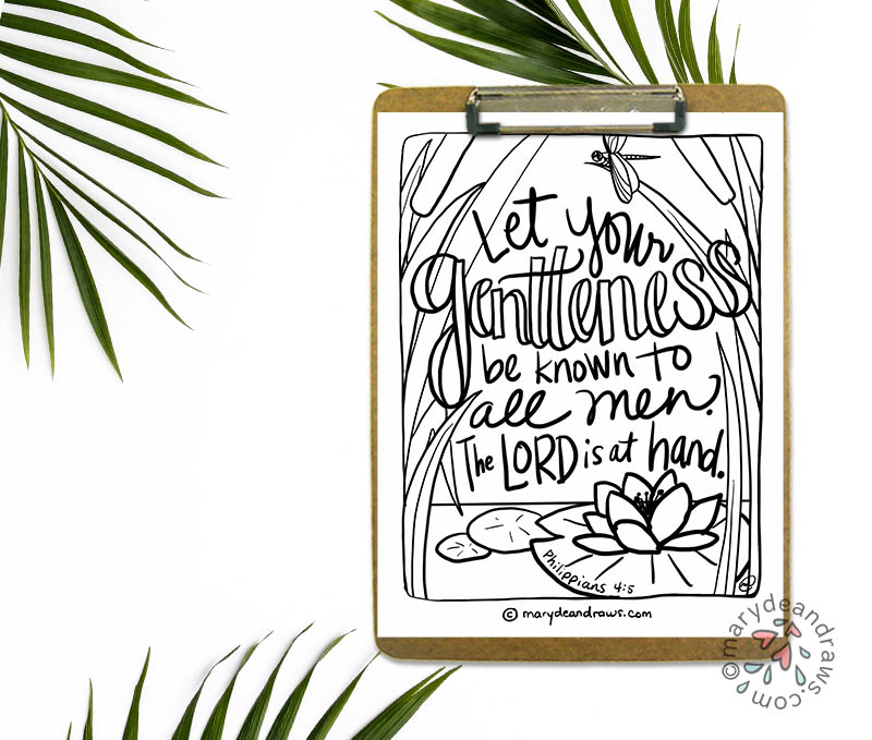 Bible coloring page Philippians 4:5
